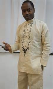 Men s linen design african linen design set for men with exquisite