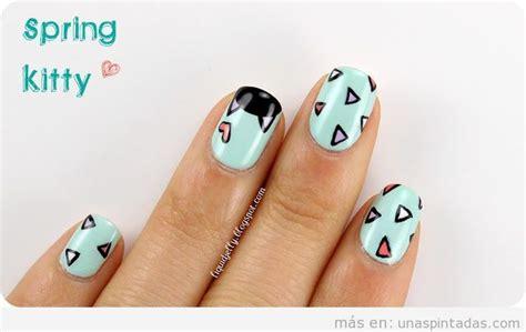 imagenes de uñas decoradas con gatos tri 225 ngulos u 241 as pintadas dise 241 os de u 241 as