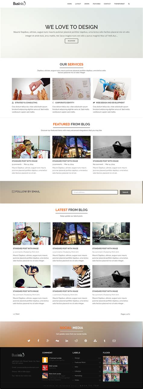 10 Business Blog Templates Free Premium Themes Template Wp Responsive