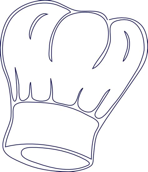 chef hat printable template outlined chef hat clip at clker vector clip