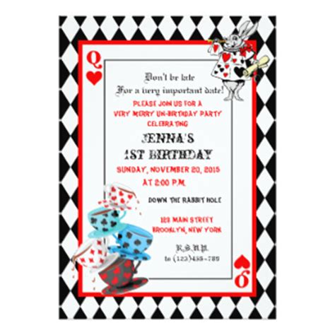 unbirthday card template in invitations announcements zazzle