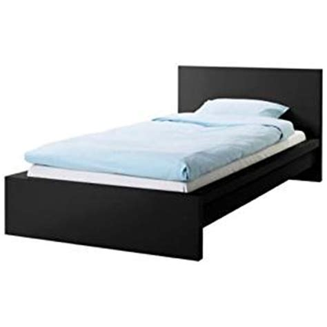 bed frame amazon amazon com ikea malm black twin size bed frame height