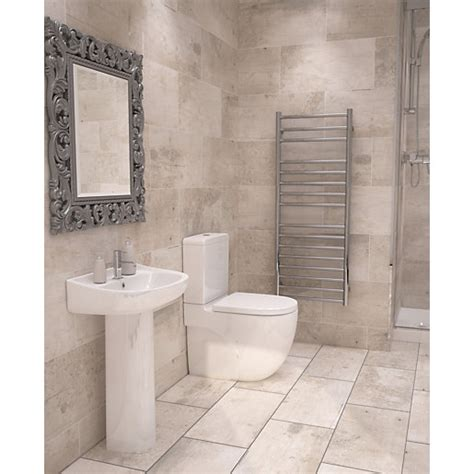 travis perkins bathroom tiles wickes cabin tawny beige ceramic tile 600 x 300mm wickes
