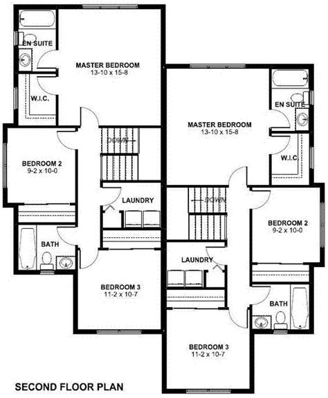 multi family home plans duplex craftsman multi family plan 90811 floors craftsman and