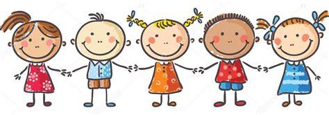 imagenes niños tomados de la mano ni 241 os tomados de la mano vector de stock 54060785
