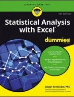 statistical analysis microsoft excel 2016 books statistical analysis with excel for dummies pdf book