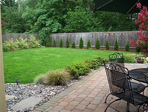 Landscaping Ideas For Large Backyards Simple Backyard Garden Ideas Photograph Backyard Landscapi