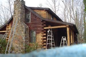 staining log homes home restoration cabin bestofhouse