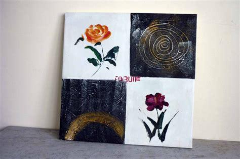 cuadros modernos blanco y negro cuadro moderno flores en fondo blanco y negro oleo s