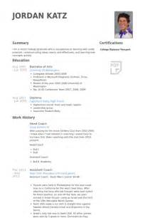 Head Coach Resume samples   VisualCV resume samples database