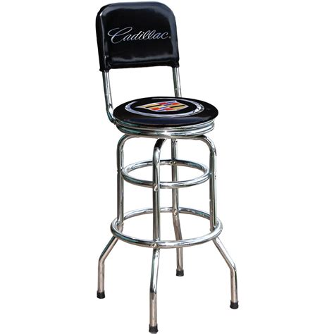 Gun Logo Bar Stools by Cadillac Logo Bar Stool With Backrest 115365 At