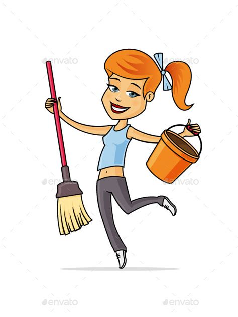 cleaning emoji cleaning lady by zoljo graphicriver
