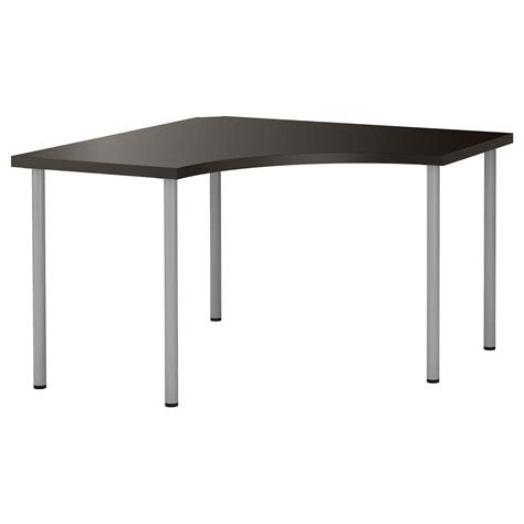Ikea Black Corner Desk Adils Linnmon Corner Table Black Brown Silver Colour 120x120 Cm Ikea