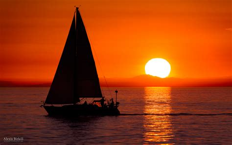 Late Sunset Sail Boat Sunset Sailboat Sunset This Is A Photo I Took Last Monday