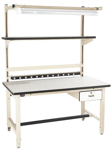 proline bench pro line workbench laminate 60 quot w 30 quot d 16d748 bib1