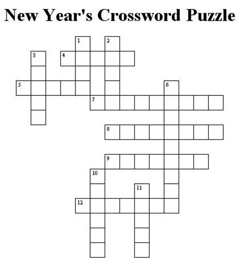 new year 2016 crossword puzzle worksheets new year s crossword puzzle