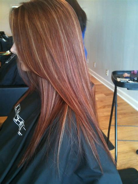 hairstyles red hair blonde highlights red hair blonde highlights hairstyles pinterest red