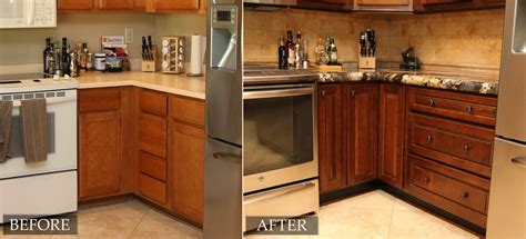 refinished cabinets before and after refinish kitchen cabinets before and after 3 tips on how