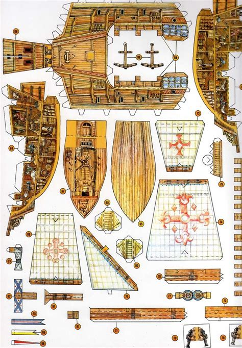 card model ship templates 615 best boats ships papercraft images on