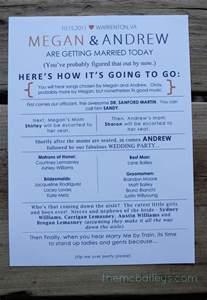 Homemade Wedding Programs Diy Wedding Programs The Mcbaileys