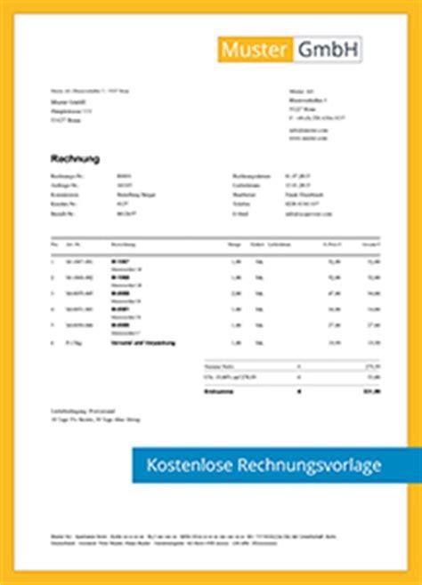 Muster Rechnung Wasserschaden Kostenlose Rechnungsvorlagen Scopevisio Ag