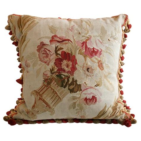 antique aubusson pillow at 1stdibs