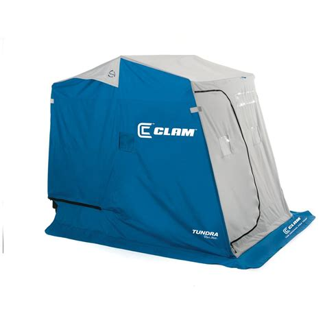 New House Gifts by Clam Fish Trap Tundra 2 Person Ice Shelter 422330 Ice