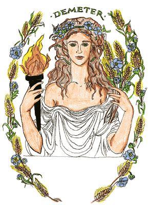 harvest of demeter goddess symbol demeter goddess of determination the broom closet