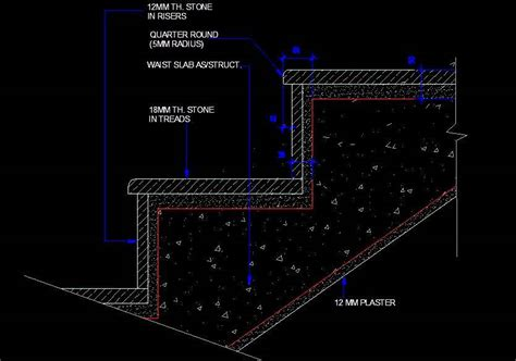 Home Interior Design Steps R C C Staircase Step Detail Plan N Design