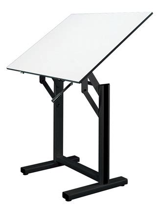 artwright drafting table alvin ensign drafting table 36 quot x48 quot white board w black base en48 3