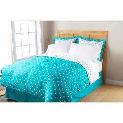 Turquoise Bedspread Mainstays Dot Bed In A Bag Bedding Set Polka Dot Bed In A