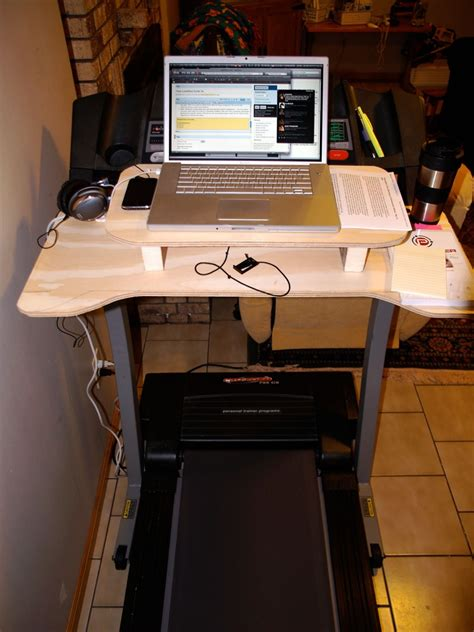 Picture Of Diy Laptop Desk For Treadmill Diy Treadmill Desk