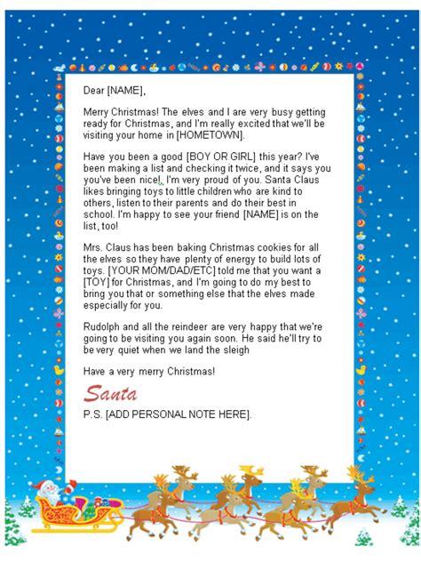 santa letters print home sleigh design