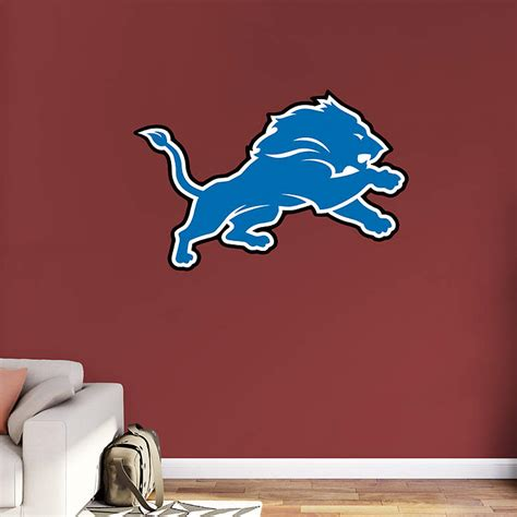 detroit lions logo wall decal shop fathead 174 for detroit