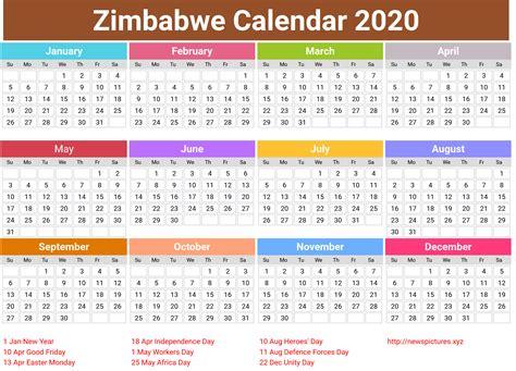annual zimbabwe calendar  printcalendarxyz