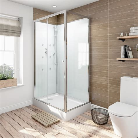 Small Shower Cabin by Glass Backed Rectangular Shower Cabin 1200x800 Victoriaplum