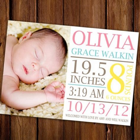 Text Baby Announcement Etsy Baby Announcement Baby Ideas