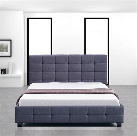 bed headboards and frames new palermo linen fabric double bed frame and button