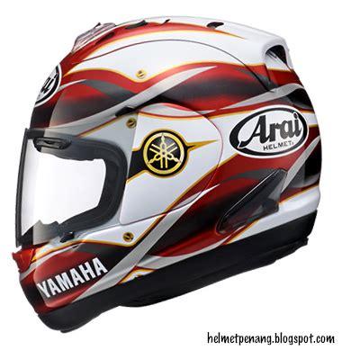 Helmet Arai Nankai Kuning helmetpenang arai rx 7 rr5 yamaha vantaggio