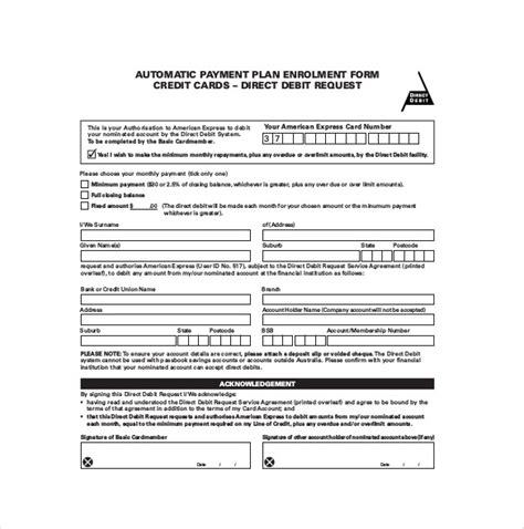 credit card authorization form template for dental office payment plan agreement template 12 free word pdf