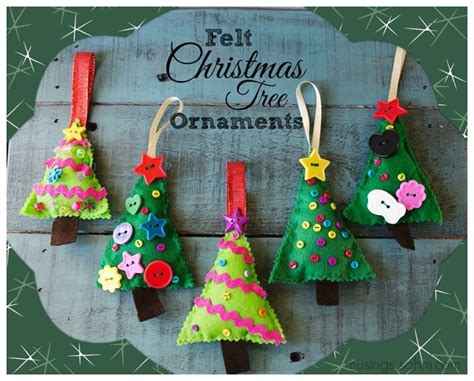 felt christmas tree ornaments living well mom