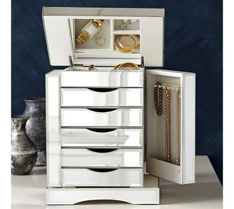Ultimate mirrored jewelry box pottery barn