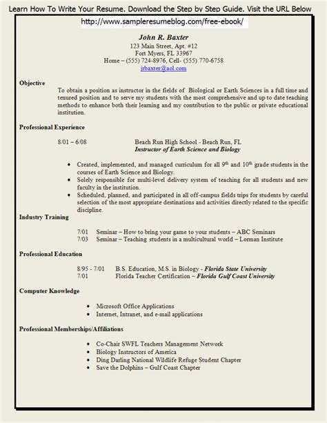 teaching resume template microsoft word cover letter for a