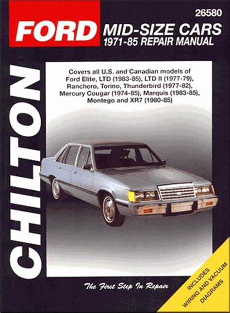 car repair manuals download 1985 ford thunderbird engine ranchero torino ltd t bird cougar repair manual 1971 1985