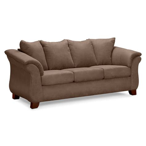 american upholstery furniture adrian taupe sofa value city furniture