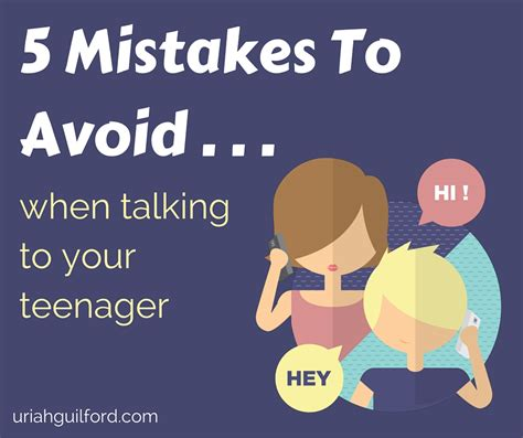 5 Mistakes To Avoid 5 mistakes to avoid when talking to your