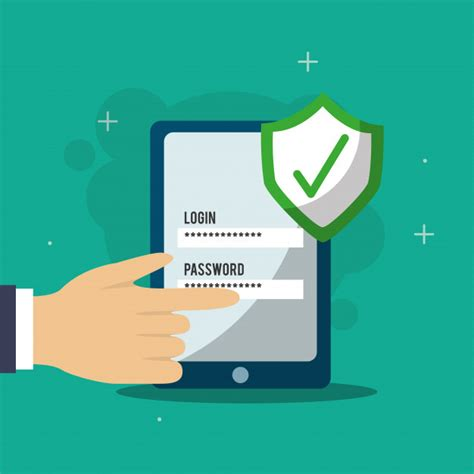 hand pressing login password web checkmark cyber security