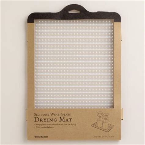 Dish Drying Mat For Wine Glasses - pebble sink mat world market