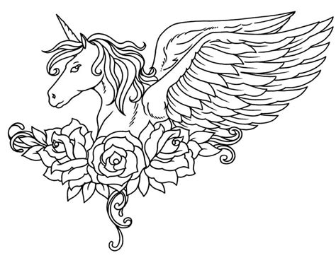 unicorn coloring page unicorn coloring pages to and print for free