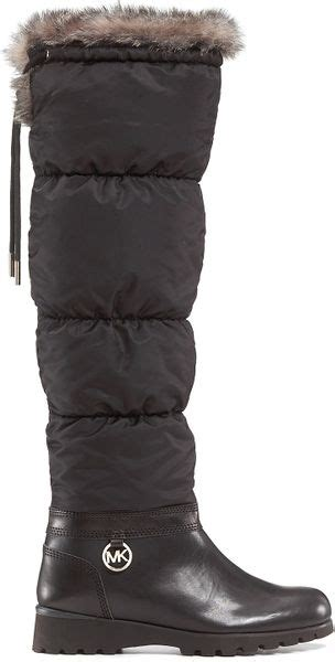 michael kors snow boots michael kors michael quilted snow boots in black lyst